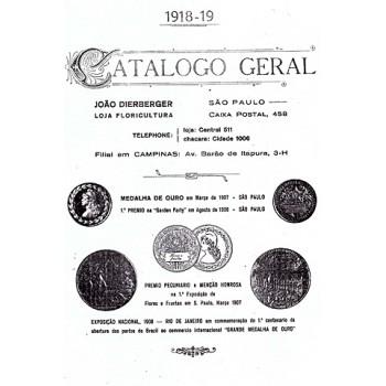 Catálogo de 1918 e 1919